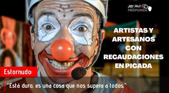 Artesanos y artistas callejeros con caída de hasta más  de un 50 porciento en recaudación..