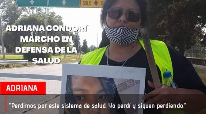 Adriana Condori llama a sumarse al reclamo de salud a las familias víctimas de mala praxis.