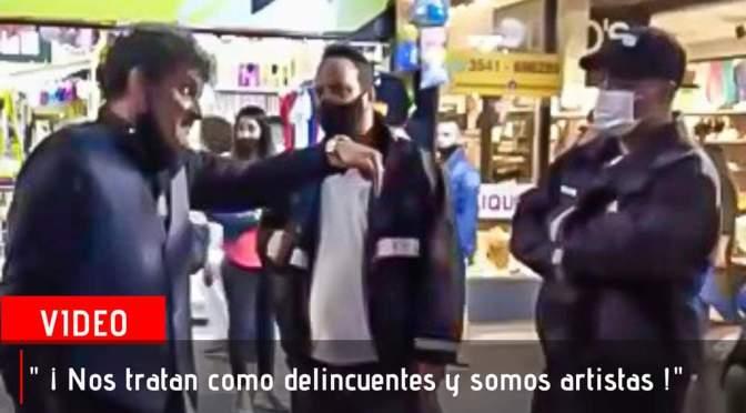 Fuerte enfrentamiento entre Jorge Luna y seguridad urbana