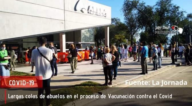 Abuelos expuestos a situaciones peligrosas en el centro de vacunación
