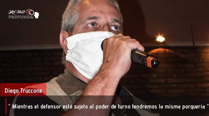 Defensoría del pueblo: Diego Truccone desafiante en su presentación como pre-candidato.