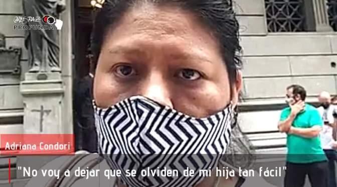 Adriana Condori viajó al congreso para presentar un proyecto de ley